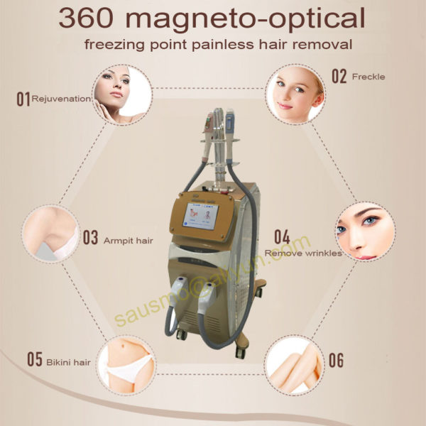 360 Magneto optic SHR Elight ipl hair removal machine