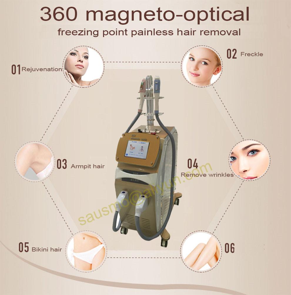 360 Magneto optic SHR Elight ipl hair removal machine