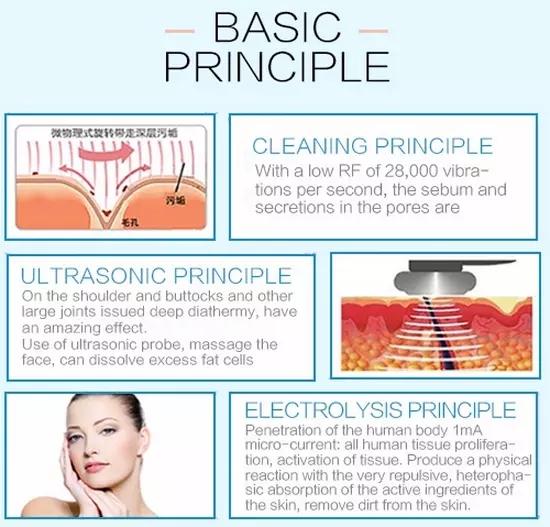 Black Multifunctional skin care lifting beauty machine